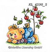 CUTE ANIMALS, LUSTIGE TIERE, ANIMALITOS DIVERTIDOS, paintings+++++,KL4590/5,#ac#, EVERYDAY ,sticker,stickers ,bear,bears ,autumn