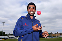 New Essex signing Mohammad Amir with the pink day/night ball during Essex CCC vs Warwickshire CCC, Specsavers County Championship Division 1 Cricket at The Cloudfm County Ground on 22nd June 2017
