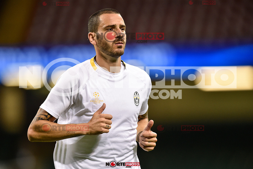 Leonardo Bonucci of Juventus during the training session ahead the UEFA Champions League Final between Real Madrid and Juventus at the National Stadium of Wales, Cardiff, Wales on 2 June 2017. Photo by Giuseppe Maffia.<br /> <br /> Giuseppe Maffia/UK Sports Pics Ltd/Alterphotos /NortePhoto.com