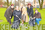 Kenmares Tidy Town members prepare for the hard work for the year ahead in Kenmare Town Park Tuesday morning l-r: Sheila Veronica O'Sullivan, Carmel O'Sullivan, Ann Browne, Bina O'Sullivan and Noel Crowley