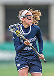 25 April 2015: University of New Hampshire Wildcat Midfielder Devan Miller, a Freshman from Bristol, RI, in action against the University of Vermont Catamounts at Virtue Field in Burlington, Vermont. The Lady Catamounts defeated the Lady Wildcats 12-10 in the final game of the season, advancing to the America East playoffs. Mandatory Credit: Ed Wolfstein Photo *** RAW (NEF) Image File Available ***