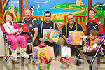 CHRISTMAS GIFTS: Member's of Tralee Fire Service giving out Christmas gifts to the children in the Cashel ward of KGH on Tuesday l-r: Ciara Doogan-Jones, Castlegregory, Fire-fighters Gareth Elbell, Nathan Tadier and Maurice Griffin, Robert Barrett, Dingle and Rico McCarthy, Lisarda, Listowel. ...   Copyright Kerry's Eye 2008