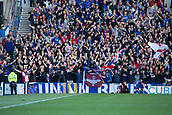 9th September 2017, Ibrox Park, Glasgow, Scotland; Scottish Premier League football, Rangers versus Dundee; Rangers fans in good voice as their side lead 1-0