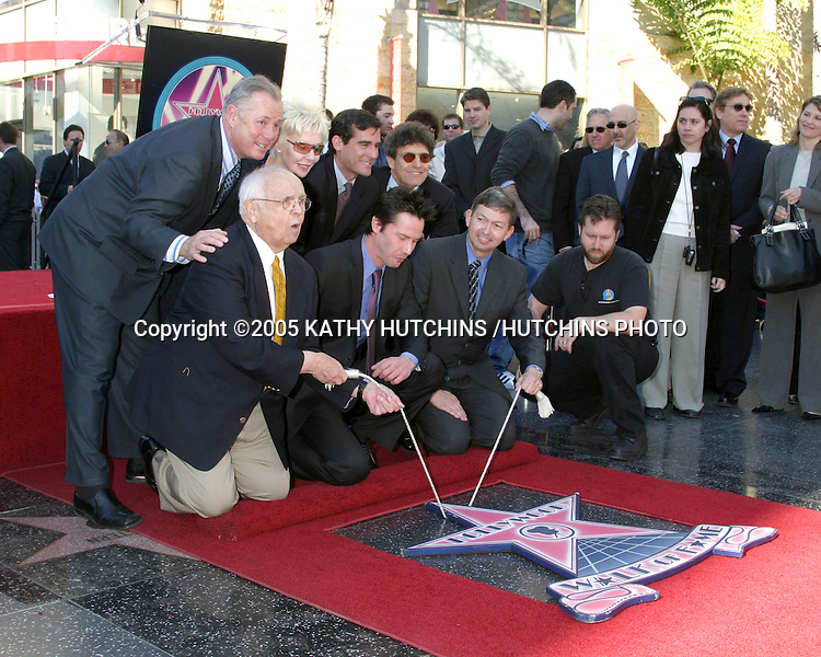 ©2005 KATHY HUTCHINS /HUTCHINS PHOTO.KEANU REEVES RECEIVES A STAR ON THE HOLLYWOOD WALK OF FAME.HOLLYWOOD, CA.JANUARY 31, 2005..KEANU REEVES.STAR PARTICIPANTS
