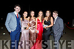 Attending the Gaelcholaiste Chiarrai Debs in the Ballyroe Heights Hotel on Saturday nightL-r, Tadgh Lynch, Roisin Collins, Laoise Coakley, Tara Byrne, Mary Duggan and Oisin Liston.