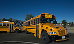 Propane powered buses at the Propane Education and Research Council Adopt a Classroom event at Lemmon Valley Elementary School on Tuesday, September 27, 2016.