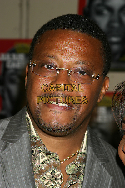 JUDGE GREG MATHIS.Julius Caesar Broadway Opening Night, Arrivals, Belasco Theatre in New York City, USA, April 3rd 2005..portrait headshot glasses beard facial hair stubble.Ref: IW.www.capitalpictures.com.sales@capitalpictures.com.©Ian wilson/Capital Pictures.