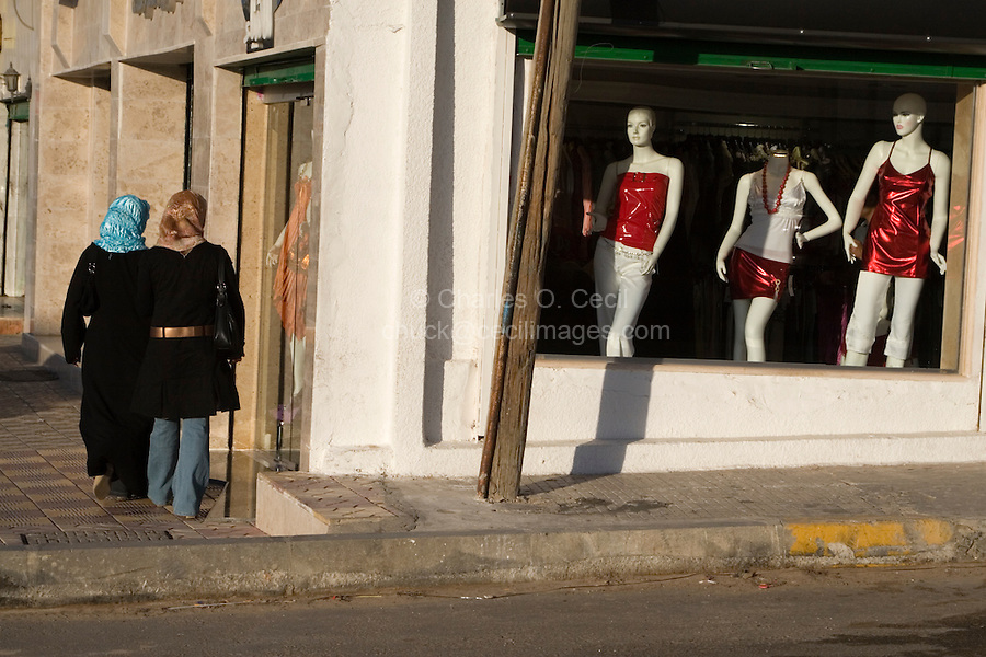Tripoli, Libya - Street Scene, Young Women Shopping, Jeans, Gargaresh District