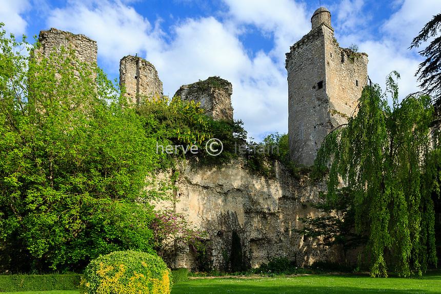 France, Loir-et-Cher (41), Vendôme, ruines du château // France, Loir et Cher, Vendome, the castle