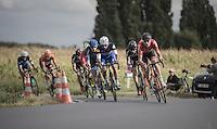 Frederik Frison (BEL/Lotto-Soudal) & Fernando Gaviria (COL/Etixx-QuickStep) leading the breakaway<br /> <br /> 101st Kampioenschap van Vlaanderen 2016 (UCI 1.1)<br /> Koolskamp › Koolskamp (192.4km)