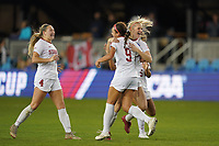 SAN JOSE, CA - DECEMBER 6: Sophia Smith #9 of the Stanford Cardinal celebrates during a game between UCLA and Stanford Soccer W at Avaya Stadium on December 6, 2019 in San Jose, California.
