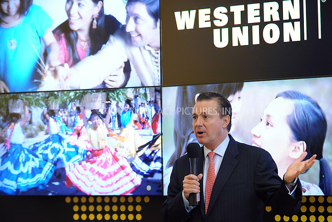 WWW.ACEPIXS.COM . . . . . ....November 9 2009, New York City....President of the Americas Western Union Stewart Stockdale promoting the holiday strategic alliance with Western Union and Wyclef Jean at Western Union in Times Square on November 9, 2009 in New York City.....Please byline: KRISTIN CALLAHAN - ACEPIXS.COM.. . . . . . ..Ace Pictures, Inc:  ..tel: (212) 243 8787 or (646) 769 0430..e-mail: info@acepixs.com..web: http://www.acepixs.com