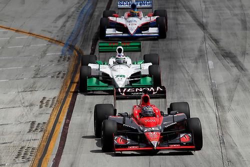 15-17 April, 2011, Long Beach, California, USA<br /> Marco Andretti leads Simona De Silvestro<br /> ©2011, Michael L. Levitt<br /> LAT Photo USA