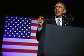 United States President Barack Obama speaks during the General Session of the 2015 DNC Winter Meeting February 20, 2015 in Washington, DC. President Obama addressed the event and participated in a roundtable discussion. <br /> Credit: Alex Wong / Pool via CNP