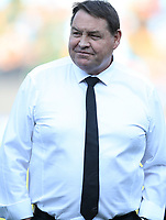 PRETORIA, SOUTH AFRICA - OCTOBER 06: Steve Hansen, Head Coach of the New Zealand All Blacks during the Rugby Championship match between South Africa Springboks and New Zealand All Blacks at Loftus Versfeld Stadium. on October 6, 2018 in Pretoria, South Africa. Photo: Steve Haag / stevehaagsports.com