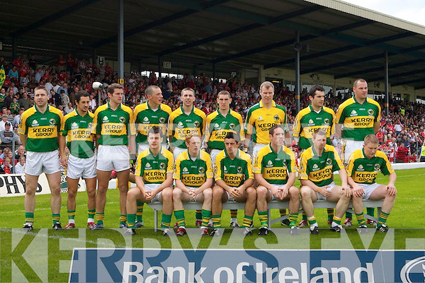 Kerry Team, Kerry v Cork, Munster Final at Fitzgerald Stadium, Killarney on Sunday June 1st 2007.
