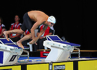 Wales' Rob Holderness competes in the men's 100m breaststroke final which he was disqualified from <br /> <br /> Photographer Chris Vaughan/CameraSport<br /> <br /> 20th Commonwealth Games - Day 3 - Saturday 26th July 2014 - Swimming - Tollcross International Swimming Centre - Glasgow - UK<br /> <br /> © CameraSport - 43 Linden Ave. Countesthorpe. Leicester. England. LE8 5PG - Tel: +44 (0) 116 277 4147 - admin@camerasport.com - www.camerasport.com