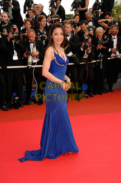 "MICHELLE YEOH .""A Mighty Heart"" screening.60th International Cannes Film Festival.Cannes, France  21st May 2007.full length long blue dress.CAP/PL.©Phil Loftus/Capital Pictures"