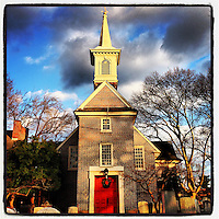 The late afternoon sun warms Old Swedes' Church (Gloria Dei) in the Queen Village section of Philadelphia December 19, 2012.