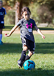 Soccer Clinic with former MLS player Cobi Jones and Coach Ken at Heritage Oaks Park in Los Altos.  August 31, 2014