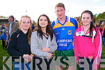 Kerryy Ledgends Weekend: Lauren Breen, Lisa O'Sullivan & Tracey Kelliher pictured with Michael Frank Russell in Finuge on Saturday last at the Exhibition game during the Finuge GAA clubs Kerry Legends Weekend.