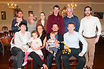 Baby Dan Guiney with his parents Patrick &amp; Kylee Guiney and sister Isla who was christened in St. Mary's Church, Listowel by Canon Declan O'Connor on Saturday last and afterwards at the Listowel Arms Hotel. Front : Marie Quinn, Isla &amp; Kylee Guiney, Patrick &amp; Dan Guiney &amp; John Quinn.<br /> Back :Mark &amp; Tadhg Learmouth, Brom Learmouth, Brendan &amp; Paddy Guiney &amp; Alan Chute.