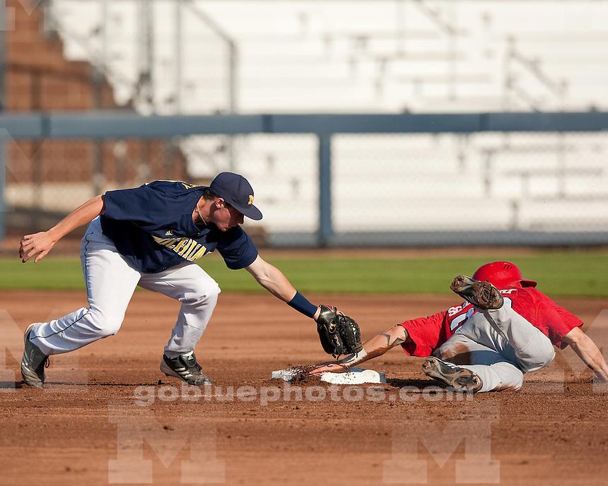 The University of Michigan baseball team beat Nebraska, 6-5 at the Wilpon Baseball Complex in Ann Arbor, Mich, on  May 18, 2012..