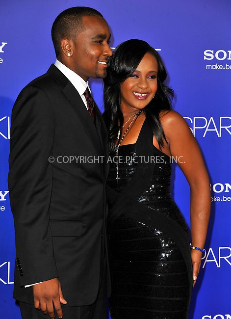 WWW.ACEPIXS.COM .....August 16, 2012, Los Angeles, CA ....Nick Gordon and Bobbi Kristina Brown arrive at the Los Angeles Premiere of 'Sparkle' at Grauman's Chinese Theatre on August 16, 2012 in Hollywood, California.....Please byline: PETER WEST - ACEPIXS.COM.. . . . . . ..Ace Pictures, Inc: ..tel: (212) 243 8787 or (646) 769 0430..e-mail: info@acepixs.com..web: http://www.acepixs.com .