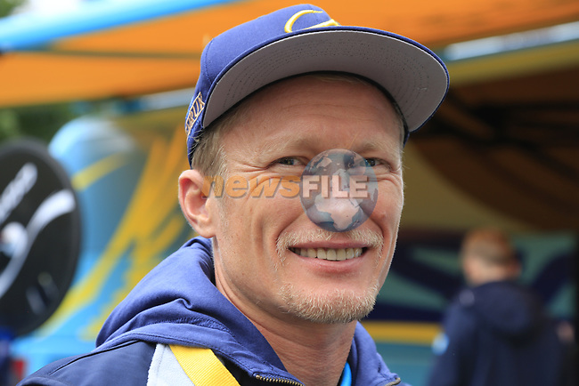 Alexander Vinokourov Astana Pro Team Principal before Stage 1, a 14km individual time trial around Dusseldorf, of the 104th edition of the Tour de France 2017, Dusseldorf, Germany. 1st July 2017.<br /> Picture: Eoin Clarke | Cyclefile<br /> <br /> <br /> All photos usage must carry mandatory copyright credit (&copy; Cyclefile | Eoin Clarke)