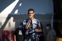 """Cosmo (Artist).<br /> <br /> Rome, 05/07/2020. Today, thousands of people gathered in Piazza San Giovanni to attend the """"Stati Popolari"""". The rally, organised by Aboubakar Soumahoro (1.) - Trade Union Coordinator of the Unione Sindacale di Base USB, was meant to be a popular answer by the """"Invisibles"""" to the """"Stati Generali dell'Economia"""" (States General of the Economy, 2.) of the Italian Prime Minister Giuseppe Conte, a 10-day-long meeting held in June at Villa Doria Pamphili (Villa Doria Pamphilj, 2.) where Italian and EU leaders / members of Governments, bankers, investors, advisors, met to discuss the economic recovery from the Covid-19 / Coronavirus crisis. From the organisers Facebook event page: «The Popular States will be our agora, where different realities will bring their pains and their proposals. A human square to make all the invisible visible and to give voice to all the unheard, our only symbol. The Popular States will be the communion of our needs and our struggles […]» (3.). At the end of the demo Soumahoro, who mainly deals with protection of """"Braccianti"""" (agricultural workers) rights, fights against """"caporalato"""" (illegal hiring) and the exploitation along the agricultural supply chain, gave a speech (4.) addressing the requests to the Government: - National plan for the work emergency; - Public housing program; - integral reform of the food supply chain; - radical transformation of migration policies (including, the """"right to return"""" for Italian migrants); - abolish the """"Security decrees"""" and cancel Bossi-Fini law; - reform the reception; - ecological transition strategy; - proactive interventions against discrimination and for equality.<br /> <br /> Footnotes & Links:<br /> 1. (Wikipedia.org) http://bit.do/fF4rH<br /> 2. 16.06.20 Aboubakar Soumahoro: Hunger/Thirst Strike And Meeting With Italian Prime Minister Conte http://bit.do/fGrbH<br /> 3. http://bit.do/fGrbD & https://www.facebook.com/StatiPopolari/<br /> 4. Aboubakar Soumahoro Speech: htt"""