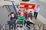 CLICK IT: Getting ready for the Click Ahead Summer Camp taking place in the IT Tralee, this July were: Conor McGrath, Margaret Slattery and Jack Nolan. Back l-r were: Sean McGrath, Catherine Murray (Deputy Librarian) with Pat Doherty (Librarian ITT), Patrick Nolan, Maggie Nolan and Ray McGrath.