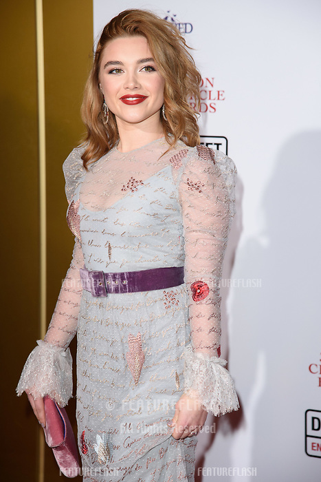 Florence Pugh at the 38th Annual London Critics' Circle Film Awards at the Mayfair Hotel, London, UK. <br /> 28 January  2018<br /> Picture: Steve Vas/Featureflash/SilverHub 0208 004 5359 sales@silverhubmedia.com