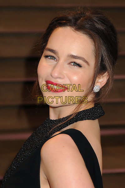 02 March 2014 - West Hollywood, California - Emilia Clarke. 2014 Vanity Fair Oscar Party following the 86th Academy Awards held at Sunset Plaza.  <br /> CAP/ADM/BP<br /> &copy;Byron Purvis/AdMedia/Capital Pictures