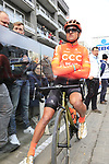 Greg Van Avermaet (BEL) CCC Team waits for the start of the 2019 Gent-Wevelgem in Flanders Fields running 252km from Deinze to Wevelgem, Belgium. 31st March 2019.<br /> Picture: Eoin Clarke | Cyclefile<br /> <br /> All photos usage must carry mandatory copyright credit (© Cyclefile | Eoin Clarke)