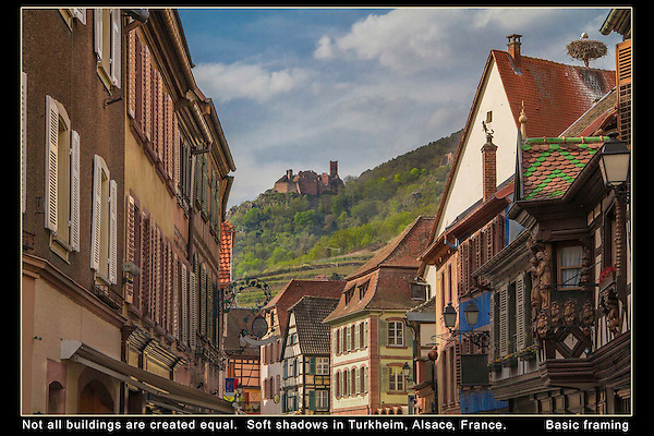 France, Alsace.  Framing Your Image.<br />