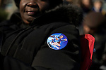 "March 26, 2008. Greensboro, NC.. US Senator  Barack Obama continued his campaign for the presidency with a ""town hall"" style rally, where he spoke for approximately 20 minutes and then spent almost an hour answering questions from the crowd.. A ""Super Obama"" pin worn by Linda Monroe."