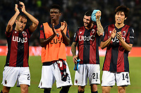 Takehiro Tomiyasu of Bologna FC and team mates celebrate at the end of the match <br /> Bologna 30/08/2019 Stadio Renato Dall'Ara <br /> Football Serie A 2019/2020 <br /> Bologna FC - SPAL<br /> Photo Andrea Staccioli / Insidefoto