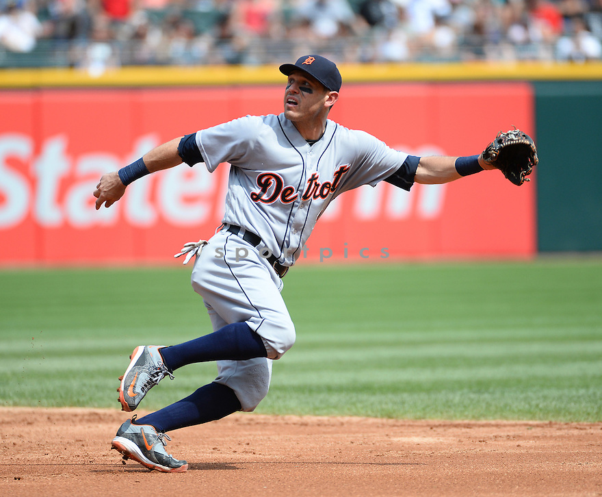 Detroit Tigers Ian Kinsler (3) during a game against the Chicago White Sox on July 24, 2016 at US Cellular Field in Chicago, IL. The White Sox beat the Tigers 5-4.