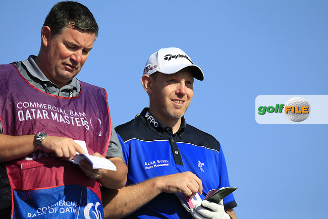 Stephen GALLACHER (SCO) on the 11th tee during Thursday's Round 2 of the 2015 Commercial Bank Qatar Masters held at Doha Golf Club, Doha, Qatar.: Picture Eoin Clarke, www.golffile.ie: 1/22/2015