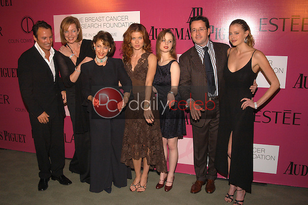 Colin Cowie, Allison Janney, Evelyn Lauder, Debra Messing, Thora Birch and Estella Waren