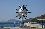 "March 20, 2016, Kagawa, Japan - The ""Star Anger"", an installation art produced by Kenji Yanobe is displayed at Shodoshima island in Kagawa prefecture, Japan's southern island of Shikoku on Sunday, March 20, 2016 as a part of Setouchi Triennale 2016. Setouchi Triennale art festival started at islands of Setonaikai mediterranean sea from March 20 through November 6.  (Photo by Yoshio Tsunoda/AFLO) LWX -ytd-"