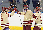 Chris Kreider (BC - 19), Kevin Hayes (BC - 12), Destry Straight (BC - 17) - The Boston College Eagles defeated the Air Force Academy Falcons 2-0 in their NCAA Northeast Regional semi-final matchup on Saturday, March 24, 2012, at the DCU Center in Worcester, Massachusetts.