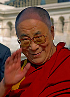 Washington DC., USA, October 17, 2007  <br /> His Holiness The  14th Dalia Lama Lhamo Dondrub of Tibet Presides over event on West Front of the US Capitol. Credit: Mark Reinstein/MediaPunch