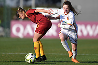 Jenny Bitzer of AS Roma Noemi Visentin of Roma CF compete for the ball during the Women Italy cup round of 8 second leg match between AS Roma and Roma Calcio Femminile at stadio delle tre fontane, Roma, February 20, 2019 <br /> Foto Andrea Staccioli / Insidefoto