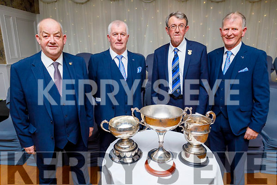 Attending the Kerry GAA Medal Presentation in the Rose Hotel on Saturday night. <br /> L to r: Diarmuid O'Shea (Vice Chairman Kerry GAA ), Gerard McCarthy (Munster Council Delegate), Liam Lenihan (Chairman of Munster GAA Council) and Paudiie Dineen (Kerry GAA Hurling Officer)