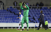 Kristoffer Nordfeldt of Swansea City after the final whistle of the Carabao Cup Third Round match between Reading and Swansea City at Madejski Stadium, Reading, England, UK. Tuesday 19 September 2017