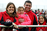 Piscataway, NJ - Sunday April 30, 2017: fan family during a regular season National Women's Soccer League (NWSL) match between Sky Blue FC and FC Kansas City at Yurcak Field.