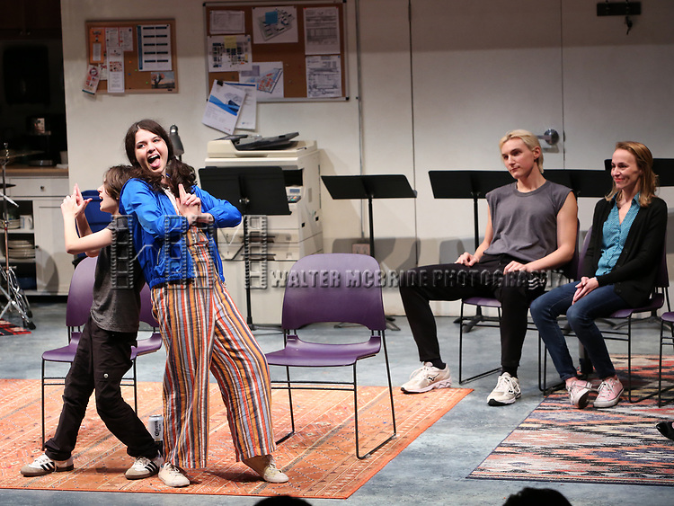"""Cast of """"XY"""" during the 2018 Presentation of New Works by the DGF Fellows on October 15, 2018 at the Playwrights Horizons Theatre in New York City."""