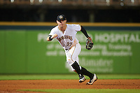 Bradenton Marauders third baseman Wyatt Mathisen (28) during a game against the Palm Beach Cardinals on August 9, 2016 at McKechnie Field in Bradenton, Florida.  Palm Beach defeated Bradenton 8-7.  (Mike Janes/Four Seam Images)