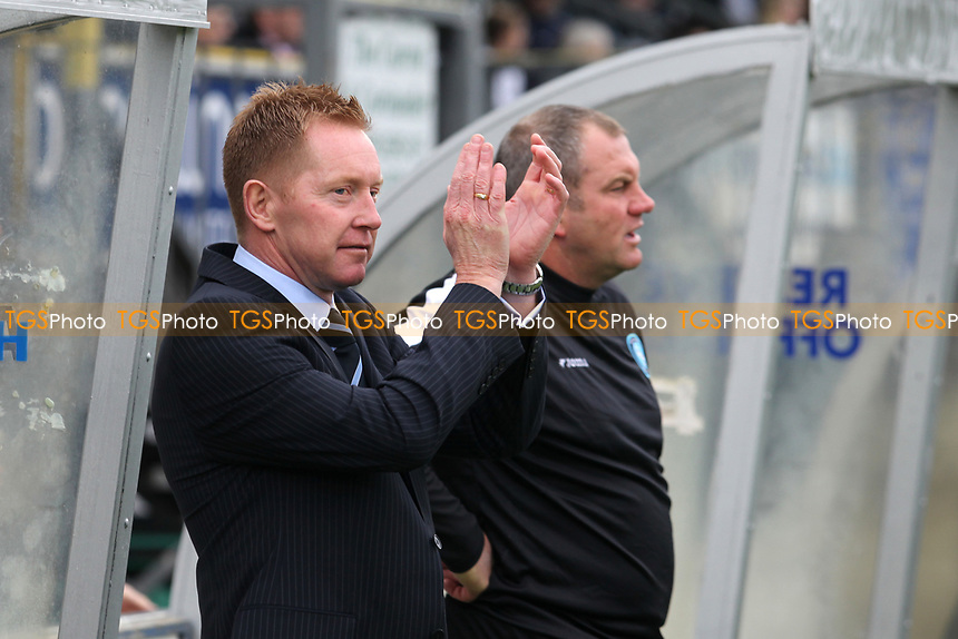 Wycombe Wanderers Manager, Gary Waddock, former QPR player and Republic of Ireland International applauds the home fans ahead of kick-off during Wycombe Wanderers vs Colchester United, Coca Cola League Division One Football at Adams Park on 17th October 2009